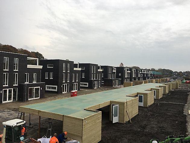 Bergingen met carport in Groningen - Houtbouw Lageman B.V. Zuidbroek