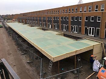 Bergingen met carport in Groningen Houtbouw Lageman B.V. Zuidbroek